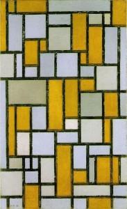 selon Piet Mondrian! dans ma madrassa piet-mondrian-gray-brown1-183x300